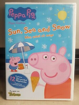 Peppa Pig French (Peppa Pig: Sun, Sea and Snow - Mer, soleil et neige (DVD, English & French))