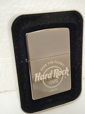 Hard Rock Cafe Lisbon Zippo Lighter .