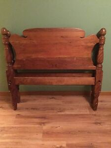 3/4 Bed frame with wooden headboard and footboard