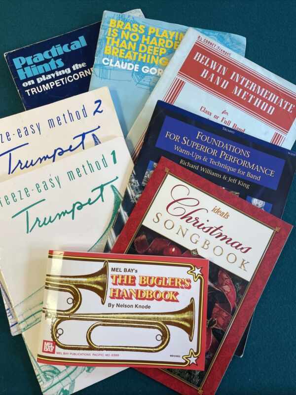 Trumpet Cornet Music Method Drills Practice Education Books Lot of 8