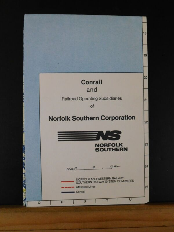 Map Conrail and Railroad Operating Subsidiaries of Norfolk Southern 1983