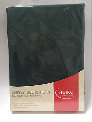 Jersey Multistretch Spannbetttuch 25cm Matratzenh.110x200 -130x220cm Tannengrün