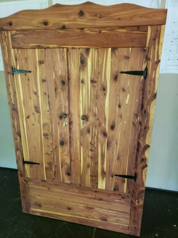 Antique Bedroom Cedar Closet Wardrobe Armoire Vintage Furniture  RESTORED