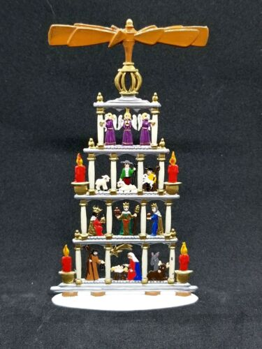"WILHELM SCHWEIZER GERMAN ZINNFIGUREN - Standing Nativity Pyramid (3""x5"")"