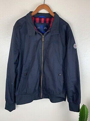 Vintage SuperDry JPN JKT Navy Blue Bomber Jacket Cotton 2XL