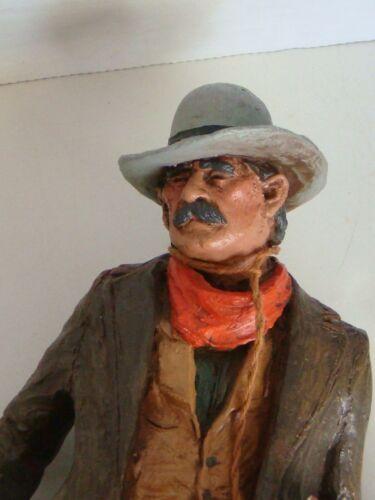"Vtg Michael Garman  Figurine 1985 ""Cutting The Dust""  Hand Painted Cowboy"