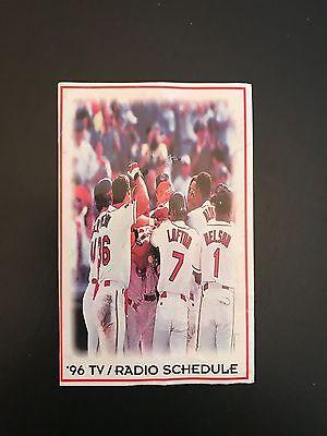 Cleveland Indians   1996 Baseball Schedule   Mlb   Vintage