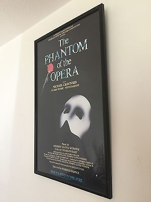 Rare Vintage Original Theatre Poster The Phantom of the Opera Dewynters