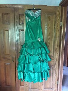 Stunning green mermaid dress