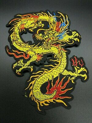 parche dragon 24cm grande patch legend creature mythology fuego fire ropa iron