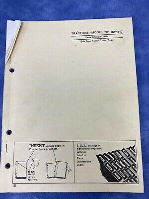 John Deere Parts Catalog For Model D Tractors Pc659