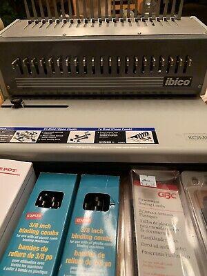 Ibico Kombo Heavy Duty Punch Binding Machine In Box With Plastic Combs Manual
