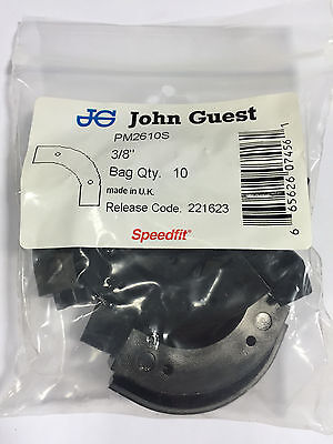 John Guest PM 2610S flow bend clip, 10mm or 3/8 tube OD (bags of 10) ()