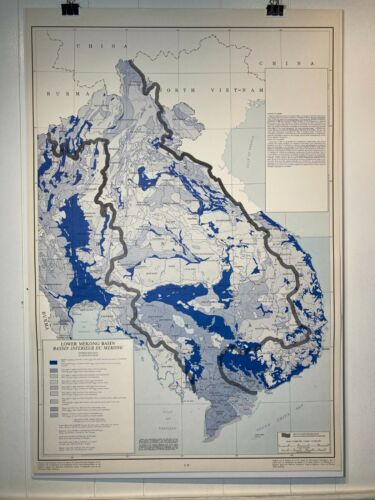 1966 Hydrology Map of the Lower Mekong Basin
