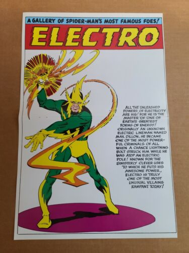 Electro Pinup Amazing Spider-Man Annual Marvel Comics Poster by Steve Ditko