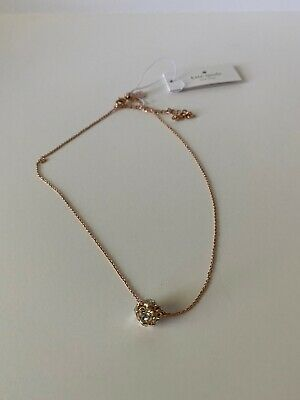 Kate Spade Lady Marmalade Pendant Necklace-NWT Clear Gold MSRP $58.00