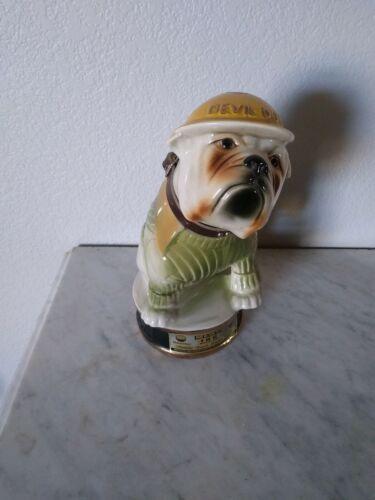 1979 Antique Jim Beam 100 Whiskey Decanter Vintage Devil Dogs Bulldog - EMPTY