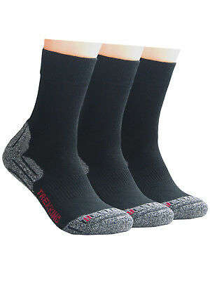 Baumwolle Socken Wandern (3 Paar Trekking Socken Wandersocken Outdoorsocken Damen und Herren)