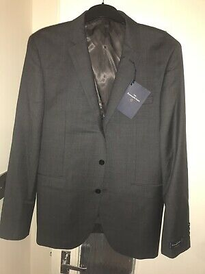 ERMENEGILDO ZEGNA SALE!! NEW TAGS WOOL TRAVELLER GREY SUIT JACKET 42S RRP...