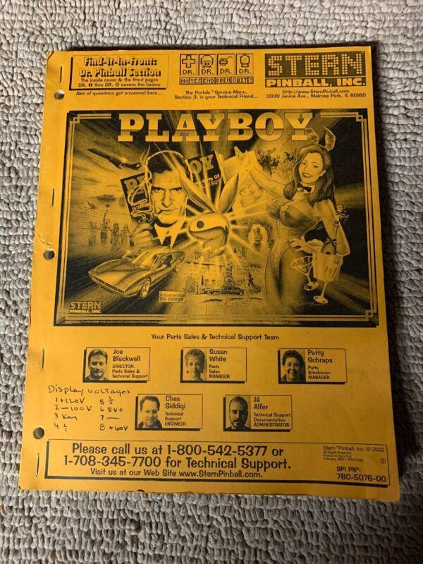 Original stern Playboy Pinball    owners manual