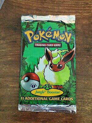 Pokemon Factory Sealed Flareon 1st Edition Jungle Booster Pack Light