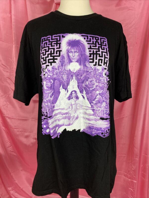 David Bowie Labyrinth Movie T Shirt Black Purple Jennifer Connelly XL Rock