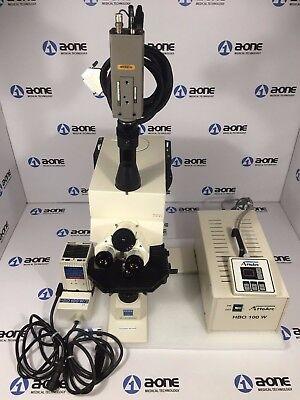Carl Zeiss Axioskop 50 Fluorescence Microscope W Trinocular Head Hbo 100w