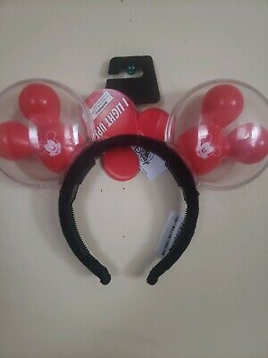 NEW 2020 Disney Parks Balloon  Ears Headband Light Up Mickey Mouse BEST DAY EVER