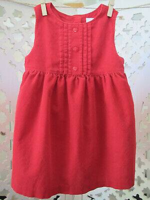 Gymboree Baby Girl Red Corduroy Jumper Dress, 12-18 Months, Christmas