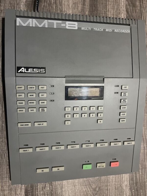 Alesis MMT-8 8-track standalone vintage sequencer with power adapter & manual.