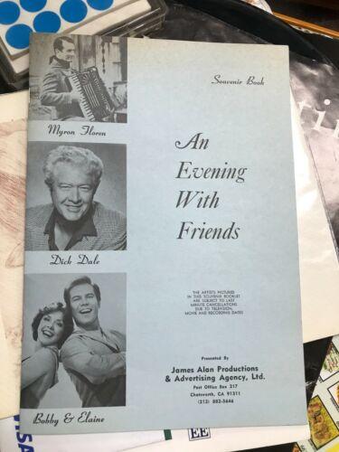 An Evening With Friends, Souvenir Book. Myron Floren norma zimmer signed     521