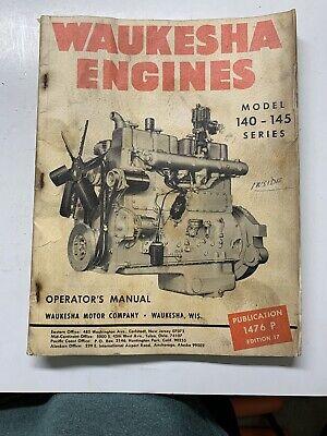 Waukesha 140 145 Engines Operators Manual