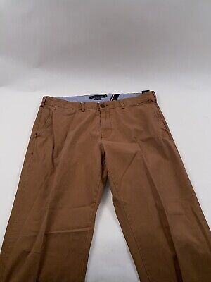 Tommy Hilfiger Brown Rust Dress Chino Pants 40 X 32 Mens Trousers