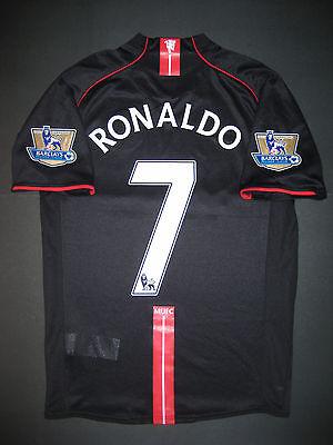 2007 2008 Nike Manchester United Cristiano Ronaldo Jersey Shirt Kit Away Black