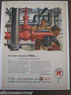 1944 Texaco Life Magazine Original Print Ad