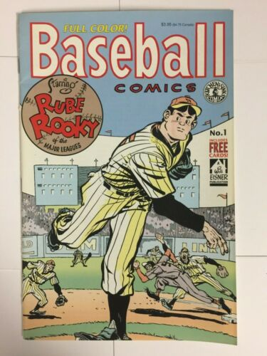 BASEBALL COMICS #1 WILL EISNER FULL COLOR 4 CARDS RUBE ROOKY ASHBURN WOODLING +