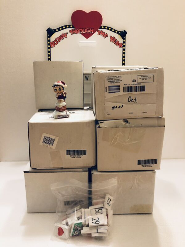 """Complete Betty Boop """"Boppin Through The Year"""" Perpetual Calendar By Danbury Mint"""