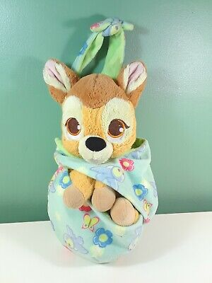 Disney Parks Baby Bambi in a Blanket Pouch Plush Super Soft Deer