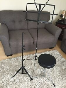 Instrument stand, music stand and stool