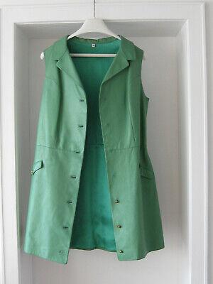 Lederkleid , Original aus den 1970iger Jahren, grün, - 1970 Kleid
