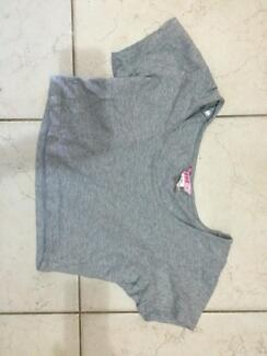Grey super crop top Forster Great Lakes Area Preview