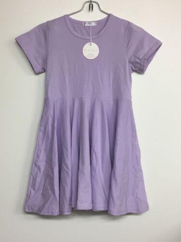 Arshiner Girls Dress Short Sleeve Cotton Loose Twirly Skater