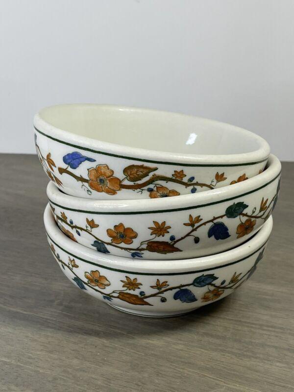 Set of 3 Vintage WARWICK 1936 Restaurant Ware Bowls Flowers Leaves