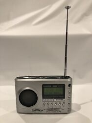 Sharper Image Travel Soother 20 Radio/Alarm Clock - Si621, silver