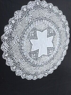 Large Woven Lace Doily ,Handmade
