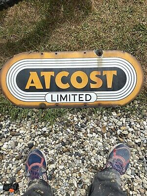 Vintage Enamel Sign - ATCOST - Original Condition