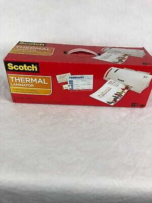 Scotch Thermal Laminator M Model Tl902 Combo Pack Includes 2 Laminating Pouches