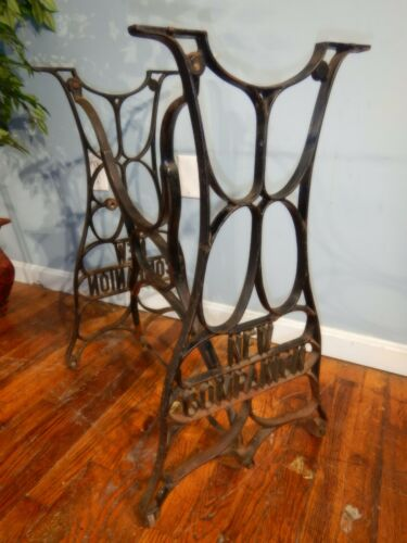 Antique Cast Iron Base Outdoor Use Industrial Bistro Table New Companion Bench