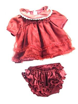 NEW DRESS FOR BABY GIRLS SIZE 3 MONTHS + MAROON COLOR  WITH DIPPER COVER J4