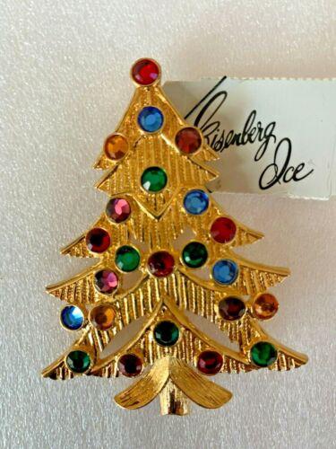 Eisenberg Ice Christmas Tree pin brooch.